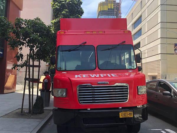 Kewpie food truck front view on street