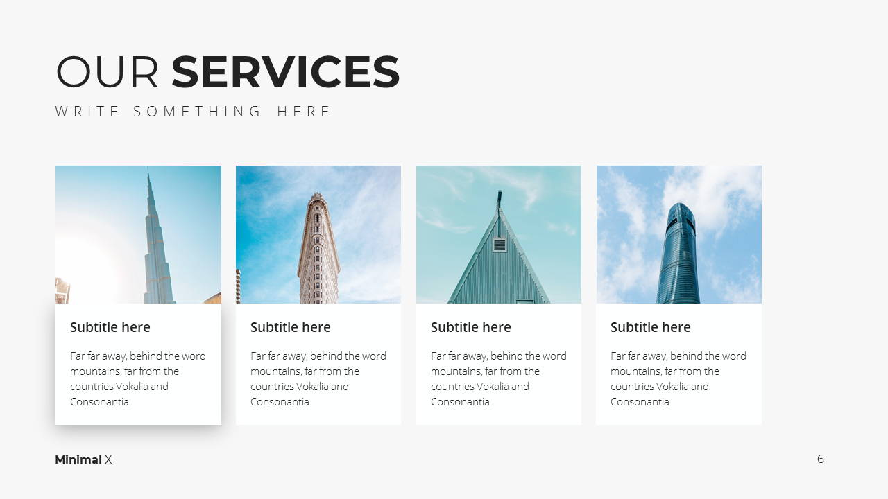 Minimal X Project Proposal Presentation Template Services