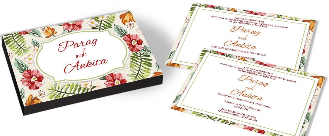 Nature Theme Wedding Invitation