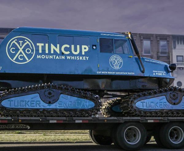 Vinyl Vehicle Wraps - Tin Cup Mountain Whisky Snowmobile Wrap