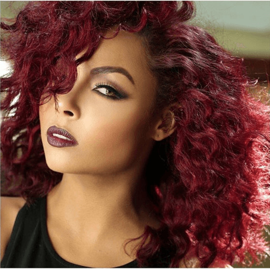 red hair on black women