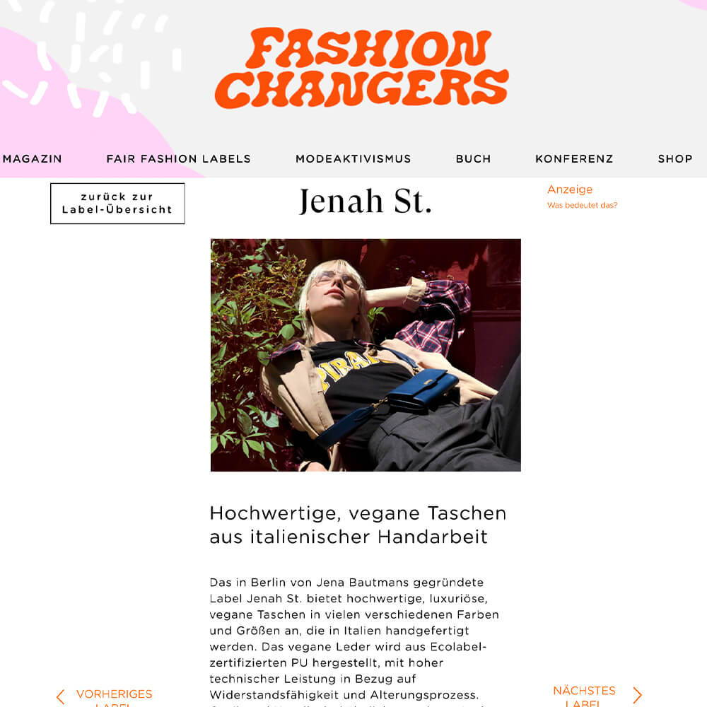 Jenah St. is listed on Fashion Changers Germany