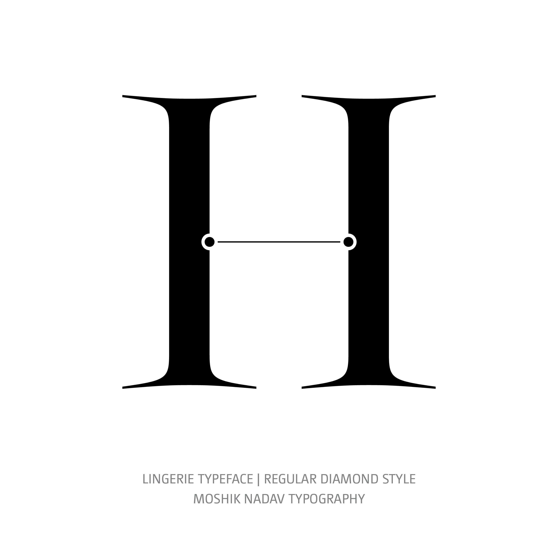 Lingerie Typeface Regular Diamond H