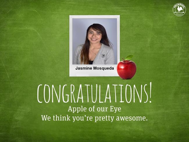 Apple of our eye Jasmine