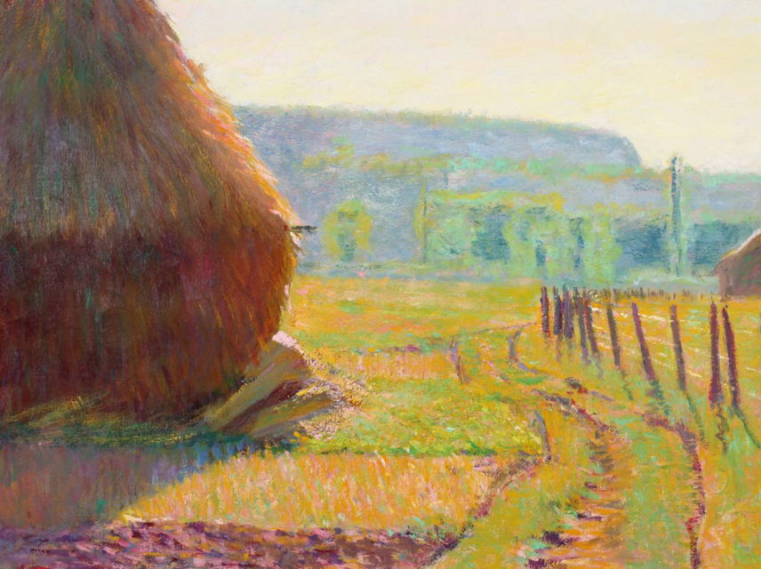 Grainstacks, Giverny, Theodore Earl Butler (Dixon Gallery and Gardens, Museum purchase by the Dixon Life Members Society, 1991.4)