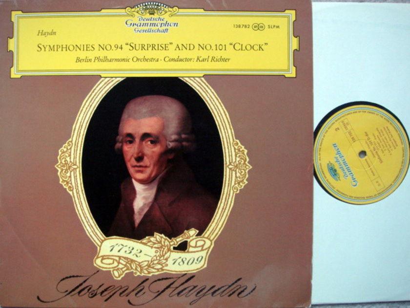 DGG / Haydn Symphonies No.94 Surprise & - No.101 Clock, RICHTER/BPO, MINT!