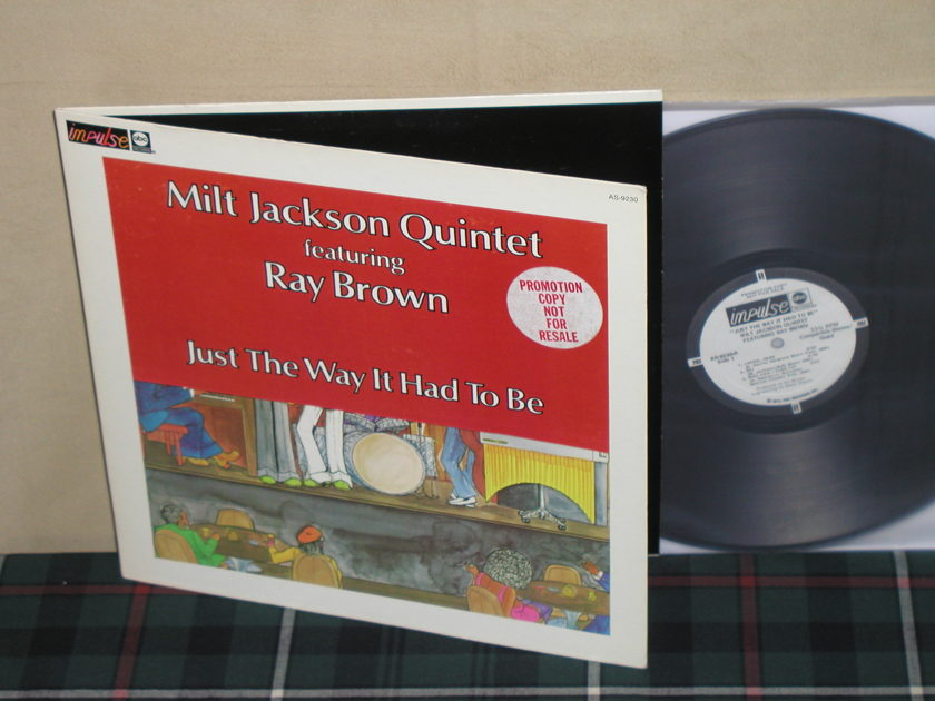 Milt Jackson/Ray Brown - The Way It Had To Be  Impulse WL Promo AS-9230