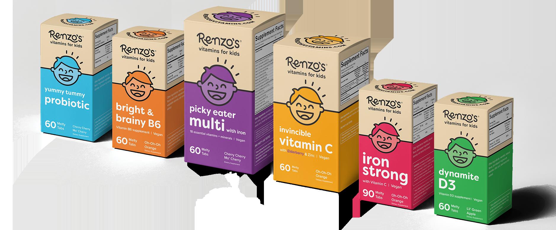 Probiotic, Vitamin B6, Multivitamin, Vitamin C, Iron, Vitamin D3
