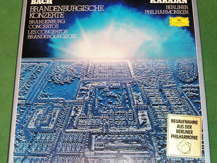 KARAJAN - BERLINER PHILHARMONIKER - * JS BACH - BRANDBURG CONCERTOS BOX SET *  DEUTSCHE GRAMMOPHON  - NM+ 9/10