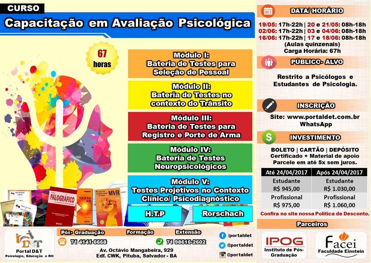 CURSO: Capacitação em Avaliação Psicológica