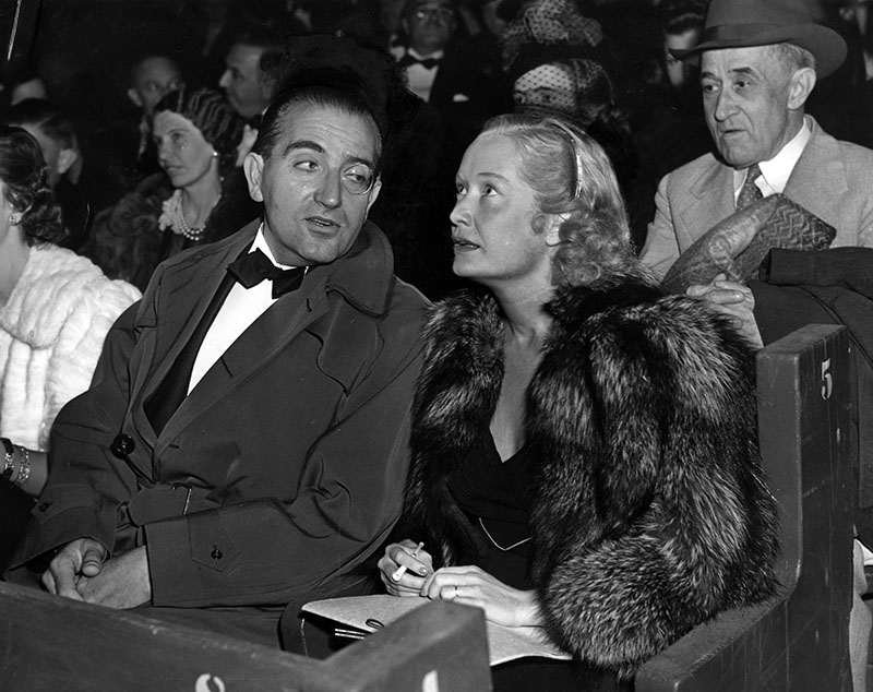 "<em class=""notranslate"">Metropolis</em> director Fritz Lang and actress Miriam Hopkins on opening night, August 23, 1938. <br> Photo courtesy of LAPL, <em class=""notranslate"">Herald Examiner</em> Collection"