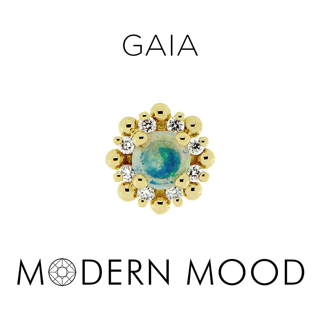 opal diamond goddess gaia piercing jewelry