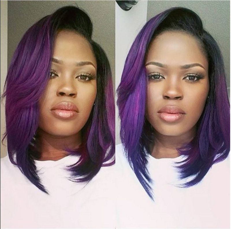 peakmill asymmetrical bob purple