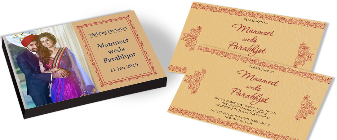 Customised Invitation card for Marriage