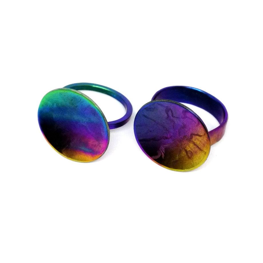 Кольцо из титана АКВАРЕЛЬ