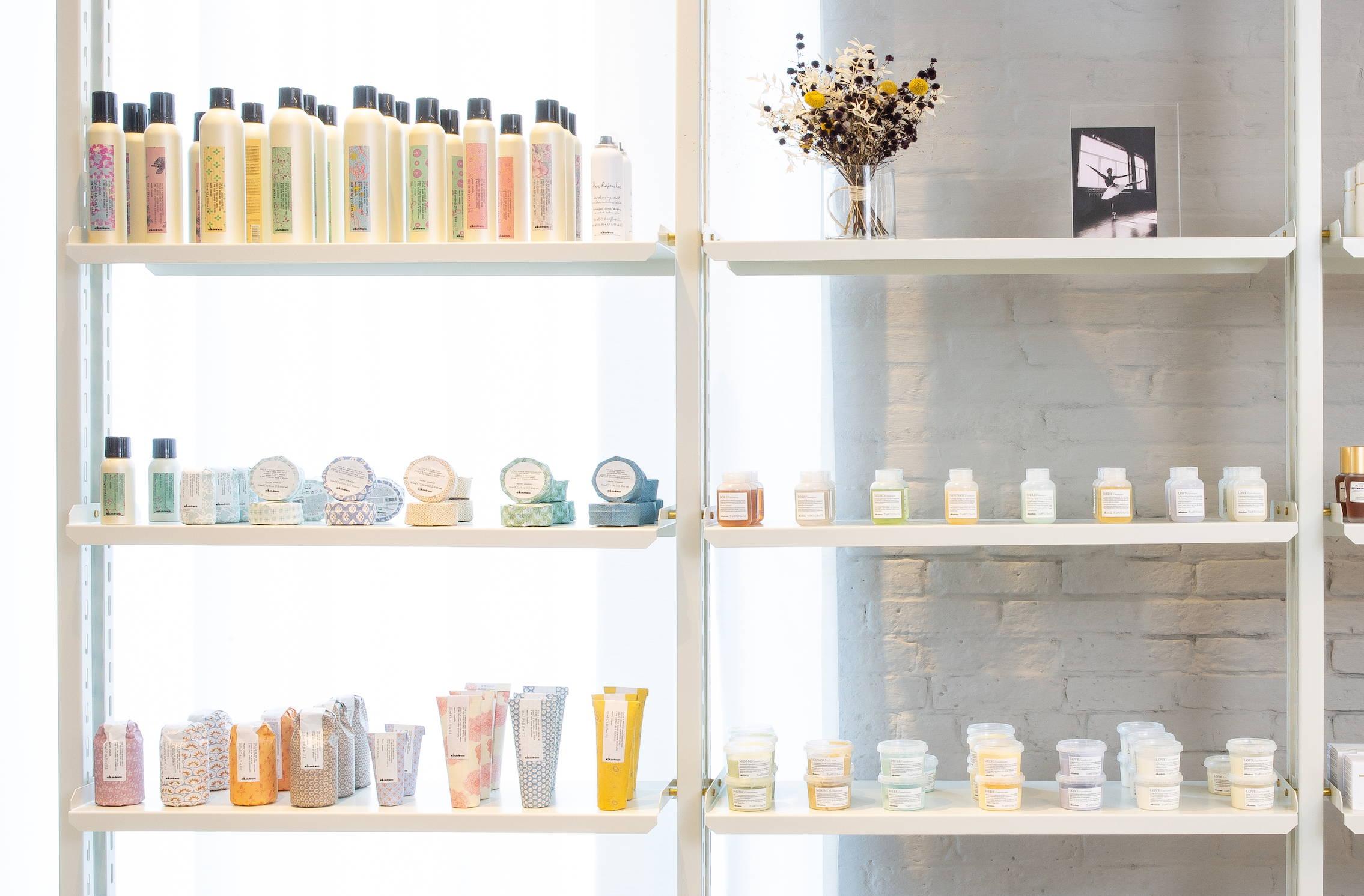 Many Davines styling products Rob Peetoom salon