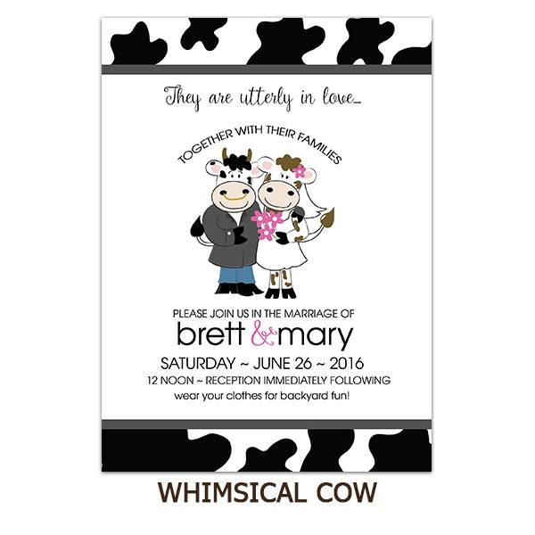 Cow Cute Couple Farm Wedding Suite