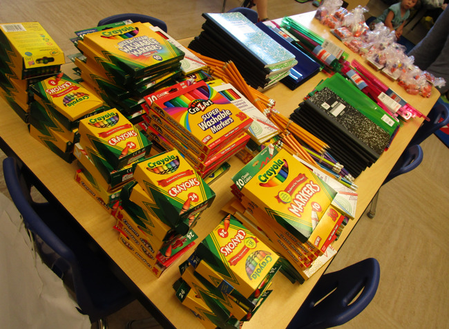 Backpack drive supplies