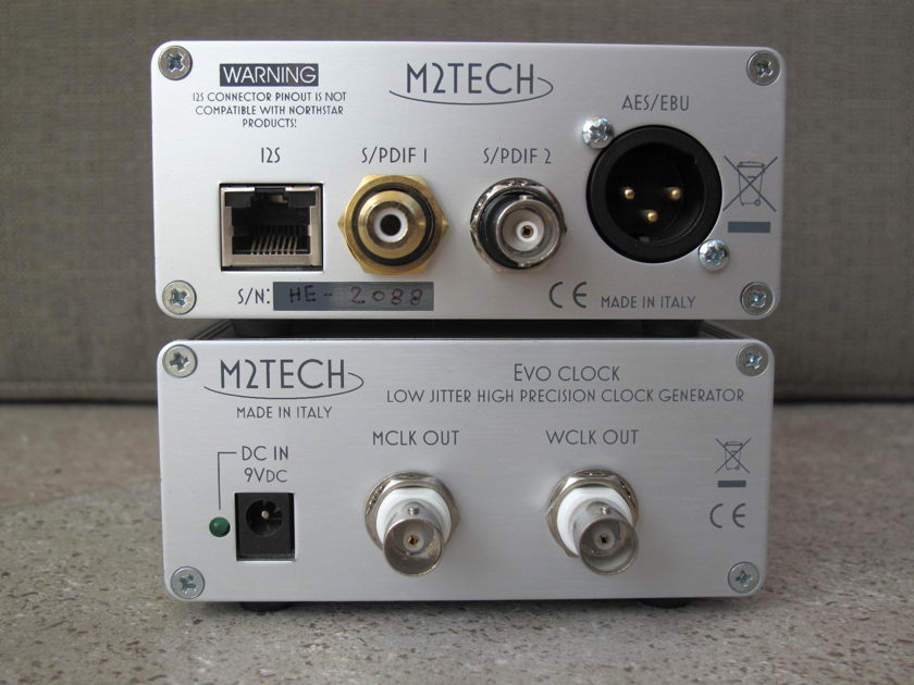 M2Tech EVO USB/SPDIF inc Ext Clock  & MCRU Linear Power Supply