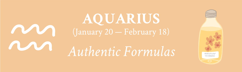 Aquarius zodiac Davines Authentic Formulas