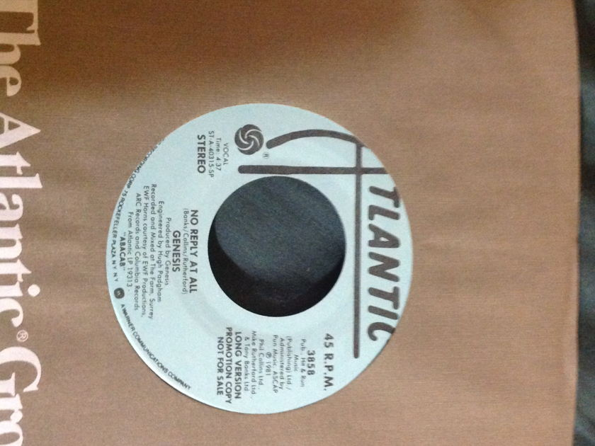 Genesis - No Reply At All Promo 45 Long & Short Versions