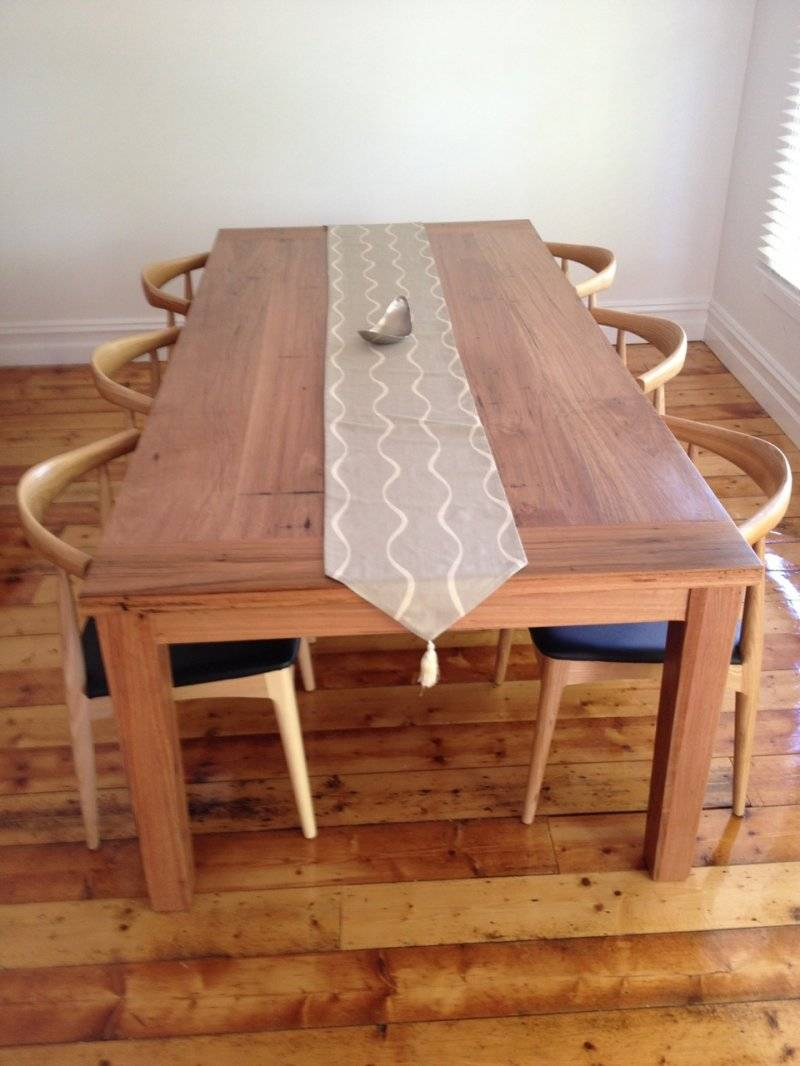 recycled timber dining and coffee tables