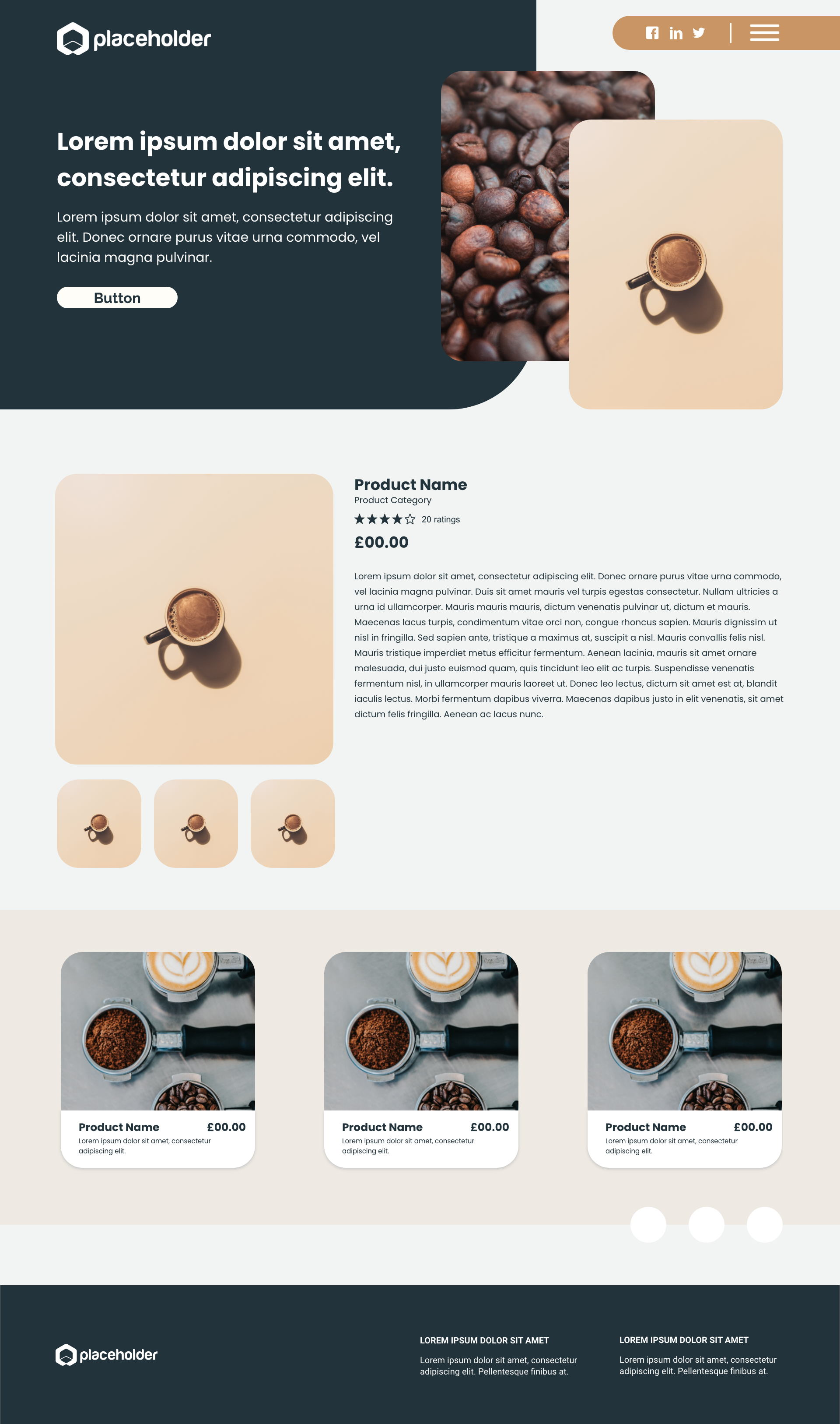 Coffee template's gallery image