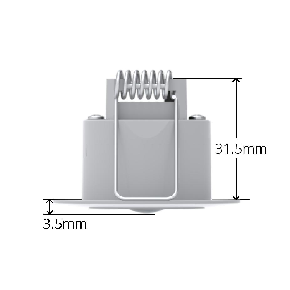White Faradite Motion Sensor 360 volt free dry contact depth dimensions