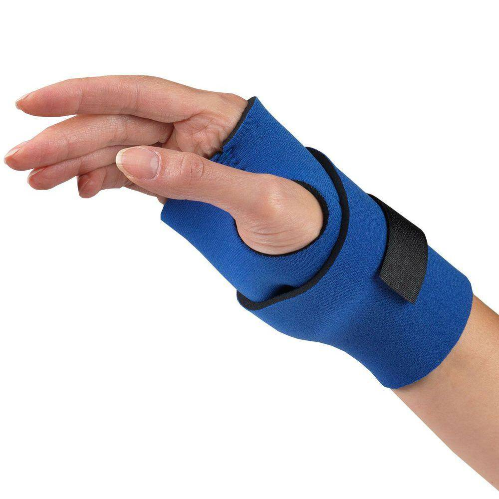 NEOPRENE WRAPAROUND WRIST SUPPORT ON HAND