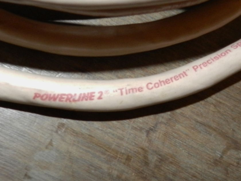 Monster Cable Powerline 2 Time Coherent Spade/Spade 15 feet