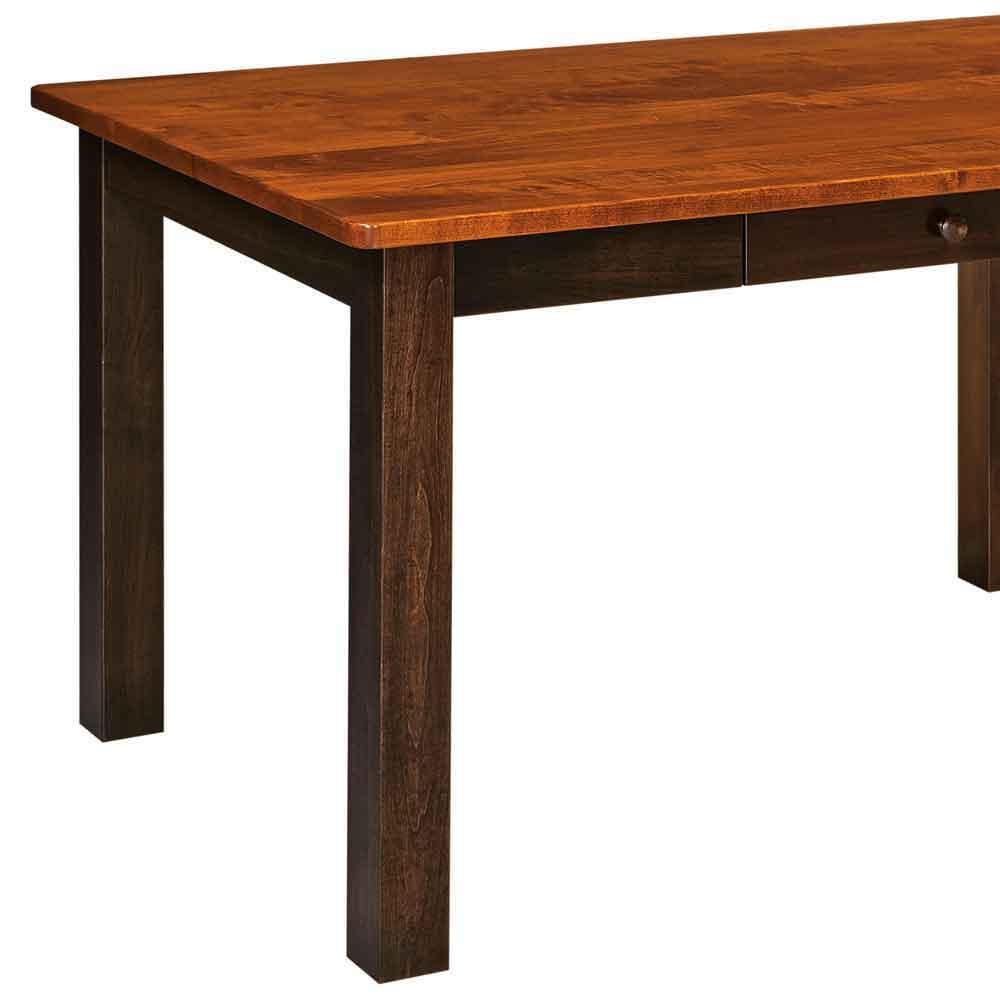 Two Tone Asheville Leg Table Briar and Michaels Cherry on Cherry