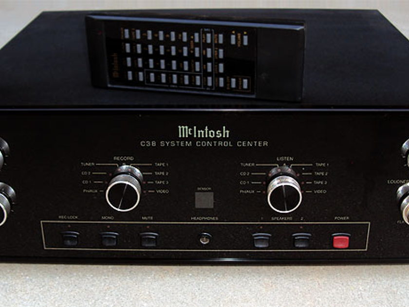 McIntosh C38 preamp (tuner avail) Lowest price, layaways, trades ok