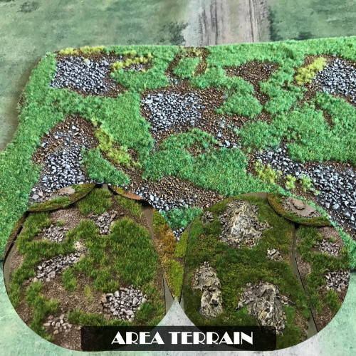 Unique, hand made beautiful looking Area Terrain for your wargames and wargaming tables.