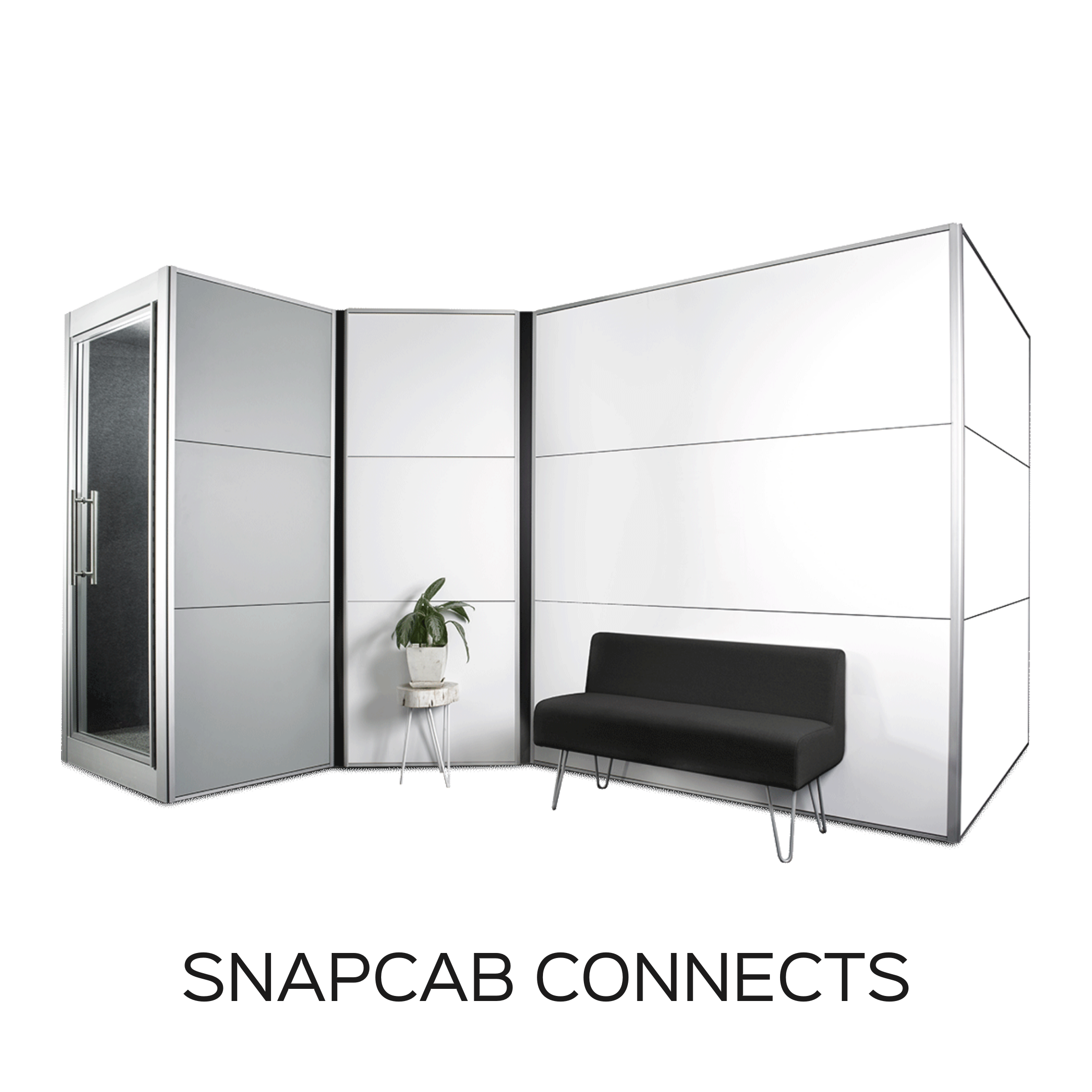 Open Office Privacy Walls - SnapCab Connects Walls