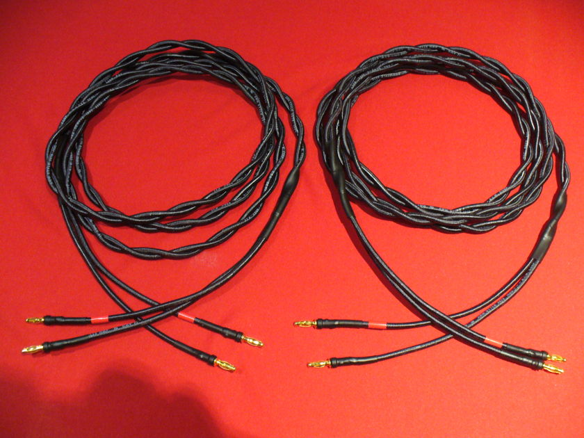 Western Electric WE12GA 8ft Twisted Pair Speaker Cables Banana Plugs Excellent Tone & Synergy With Tube Amplifiers Giant Killers!