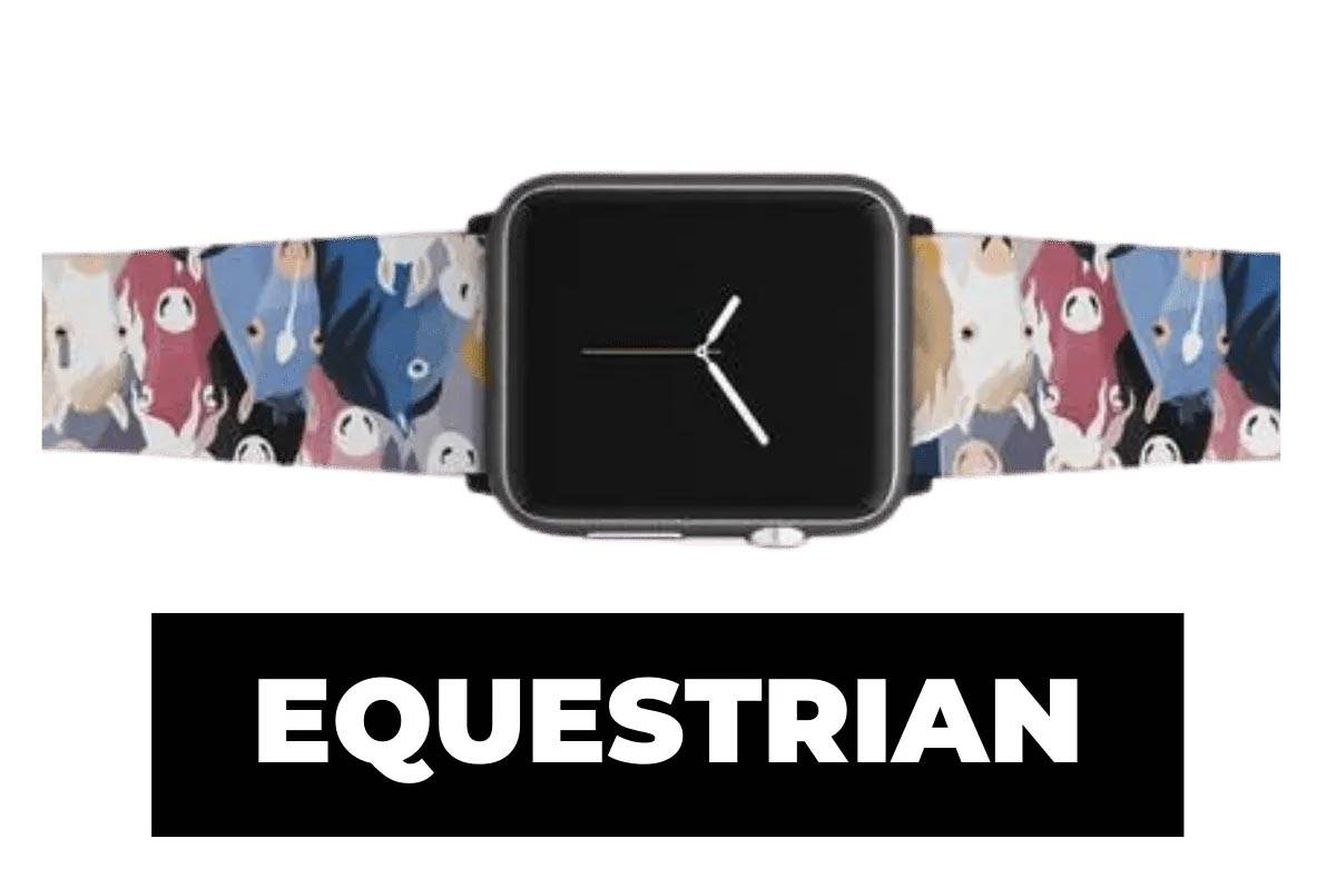 Equestrian apple watch band