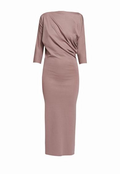 Платье с асимметричной драпировкой