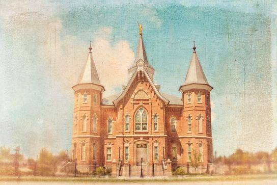 Painting of the Provo City Center Temple.
