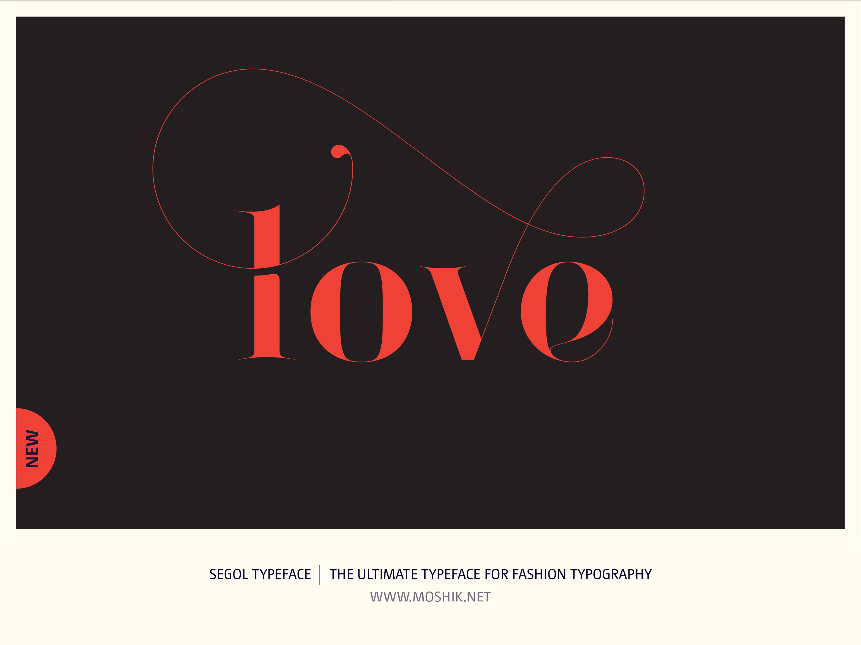 Segol Typeface, Love, Moshik Nadav, Fashion fonts, Fashion Typography, Vogue fonts, Fashion logos, Sexy logos, sexy fonts, custom fonts, custom fashion logo, Best fonts 2021, Must have fonts 2021, valentines, typography, Lowercase, Red
