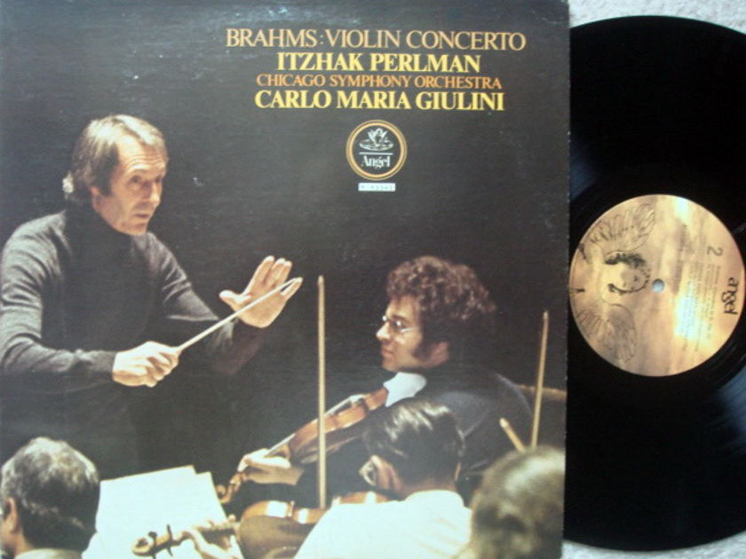 EMI Angel / PERLMAN-GIULINI, - Brahms Violin Concerto, MINT!