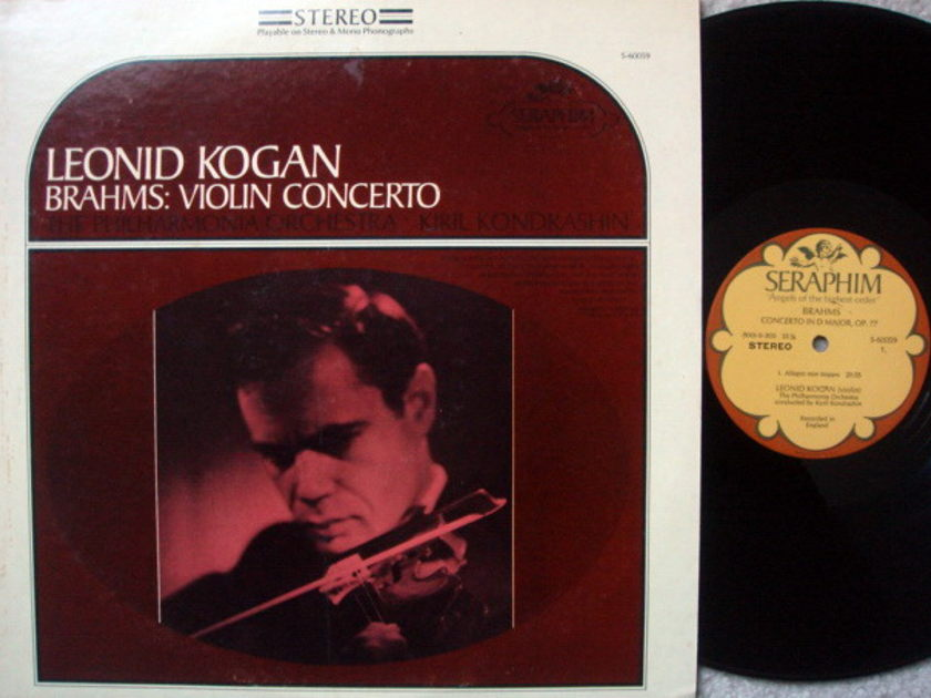 EMI Angel Seraphim / KOGAN-SKONDRASHIN, - Brahms Violin Concerto, MINT!