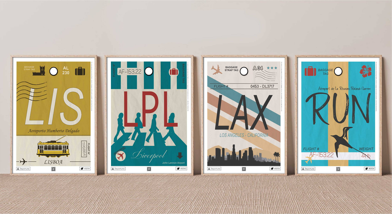 Affiches voyages Aéroports
