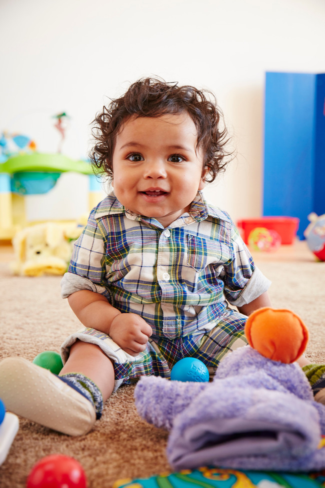 baby boy sitting up at  Primrose daycare