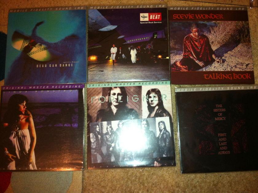 Huge Lot of MFSL Vinyl LP's Different Grades--All Vinyl Play Well Like New / MFSL JVC Japan Old MFSL