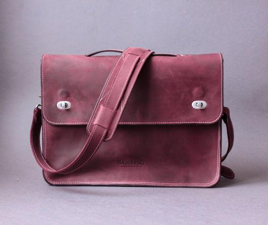 Кожаная сумка Briefcase wine