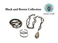 Marlyn Schiff Black and Brown Jewelry Set