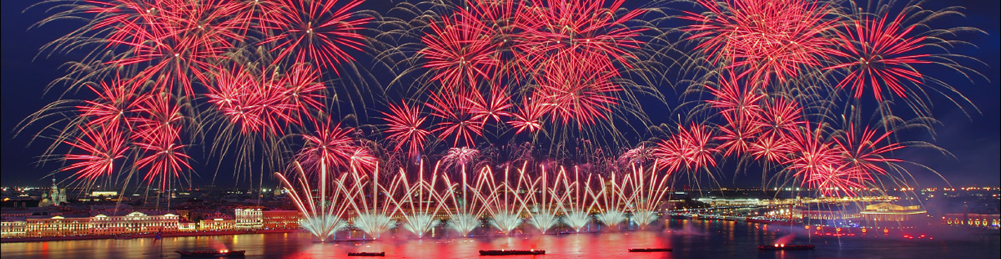 Exclusive! Fireworks on the Scarlet Sails from the house on the embankment!