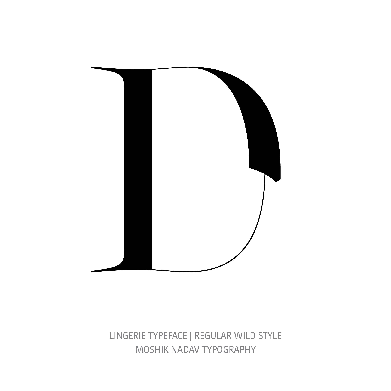 Lingerie Typeface Regular Wild D