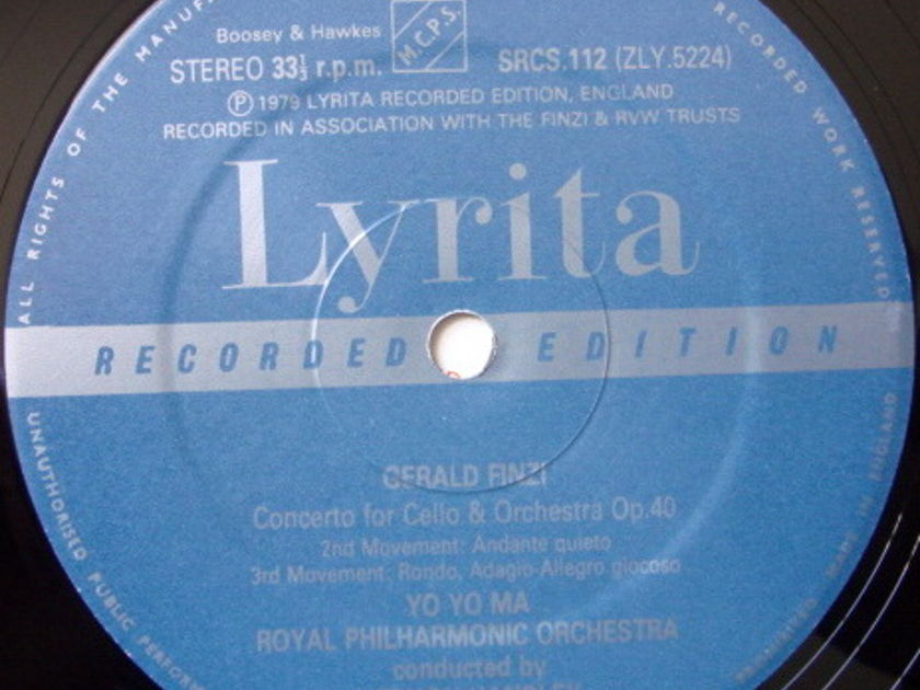 ★Audiophile★ Lyrita-Decca / YO-YO MA, - Finzi Cello Concerto, MINT, TAS LP!