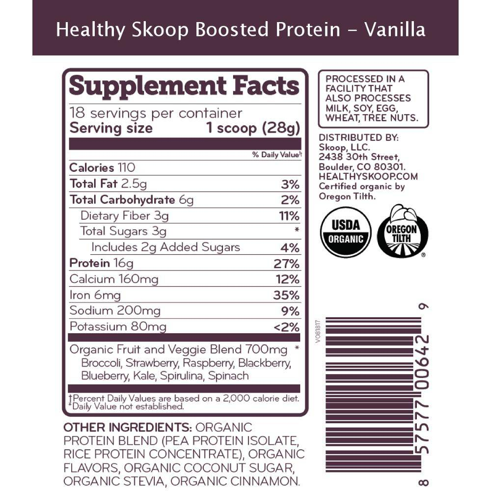Organic Boosted Protein with Fruits and Veggies - Healthy